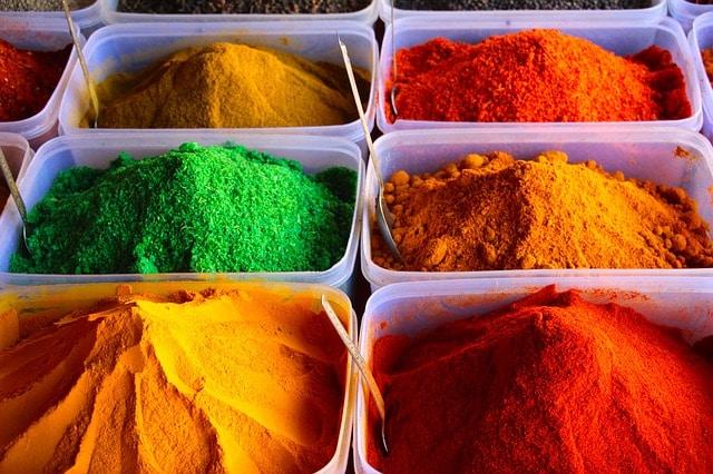 Epices colorées
