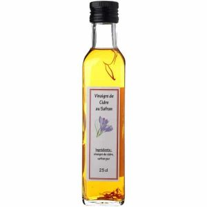 Vinaigre de cidre au safran